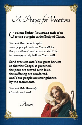 Prayers for Vocations   World Day of Prayer for Vocations